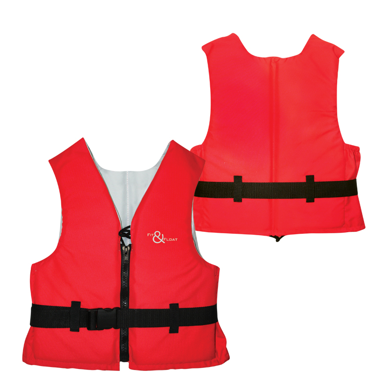 """fit&float Buoyancy Aid ,adult, 50n, Adult, Iso 12402-5, 70-90kg,red"""