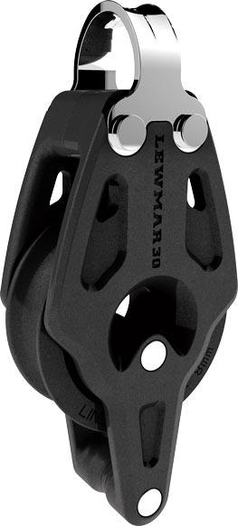 Lewmar 30mm Control Single Fixed Strap Block With Becket