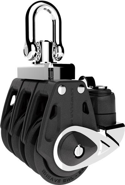 Lewmar 30mm Control Triple Block With Cleat Block