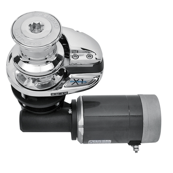 Lofrans X1 Vertical Windlass 12v 500W (Chromed Bronze) 6mm Gypsy With Drum (ISO 4565 / DIN 766)