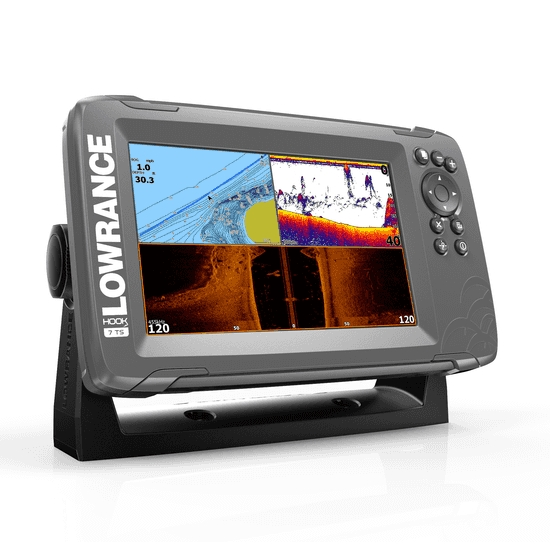 Lowrance HOOK 2-7 7 Inch Chart / Fishfinder With Triple Shot TR (Down & Side Scan)