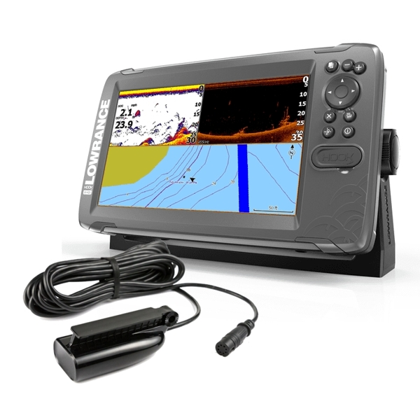 Lowrance HOOK 2-9 9 Inch Chart / Fishfinder With SplitShot TR (DownScan)