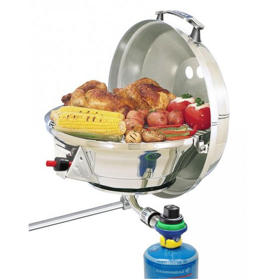 Magma Marine Kettle Gas Grill with New Electronic Pulse Ignition 17Inch (43cm) BBQ