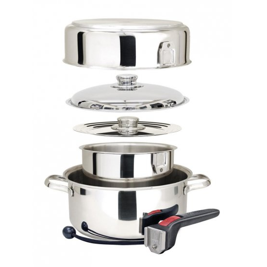 Magma Cookware Nestable 7 Piece Set in Stainless Steel