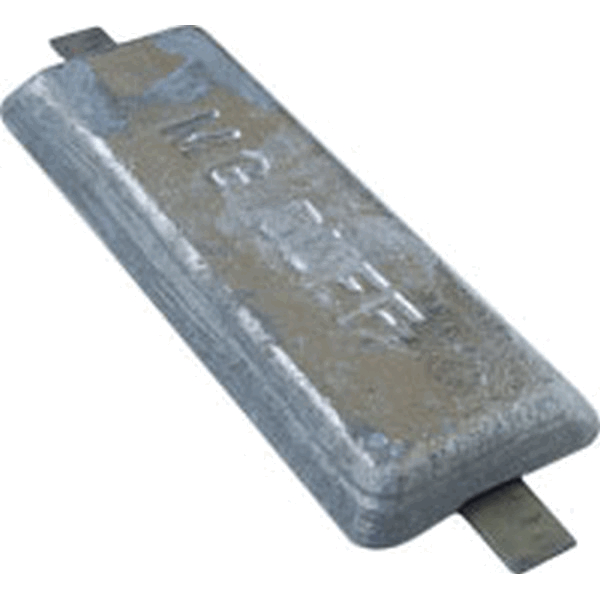 MG Duff ZD60 Zinc Hull Anode 6Kg Weld On