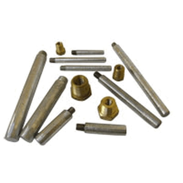 MG Duff P500 1/2x2 Solid Zinc Pencil Anodes