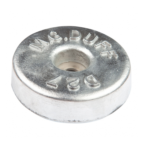 MG Duff Zinc Hull Anode Disc 2.7 Kgs Weight 130mm