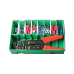 Boxed Assortments 56 Pre-Insulated Terminals + Crimping Tool