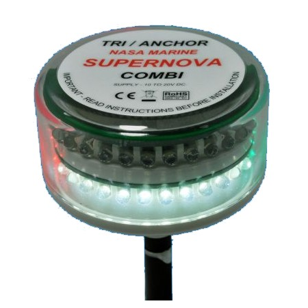 Nasa Supernova Combi LED - Tricolour / Anchor Light
