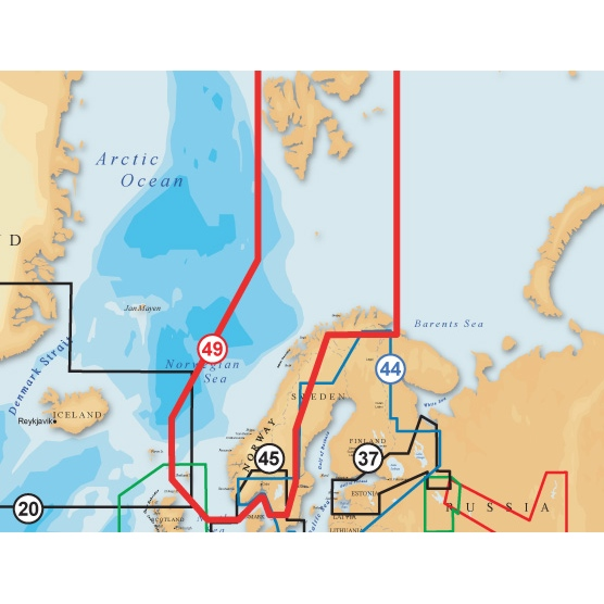 Navionics Gold XL9 SD/Micro SD Format 49X Norway