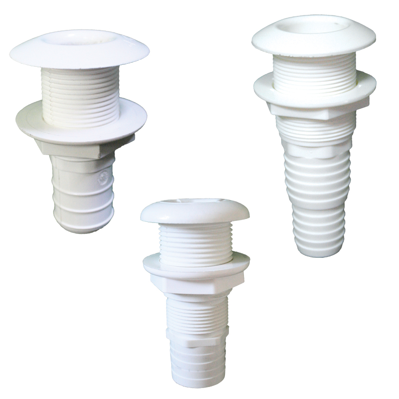 Nuova Rade Thru-hull Easy Mount 3/4''. For Hose Ø20mm. White