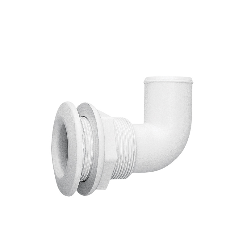 Nuova Rade Thru-hull Elbow 90º. For Hose Ø38mm. Pa. White