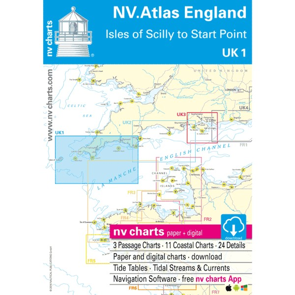 NV Charts UK 1 - NV. Atlas England - Scilly Isles to Star Point