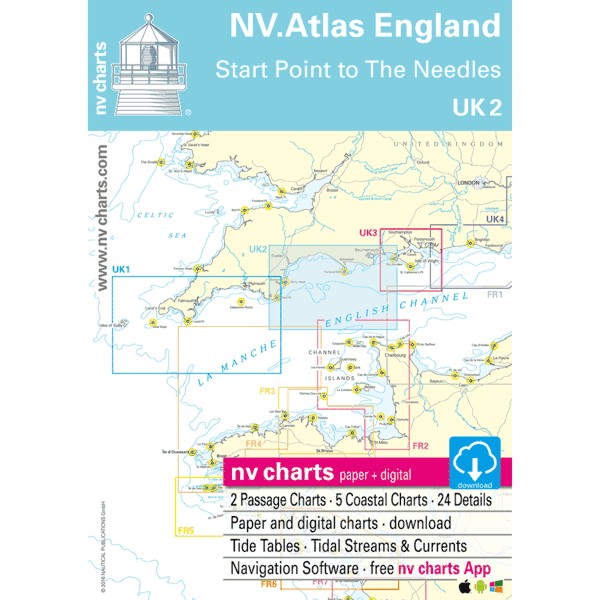 NV Charts UK 2 - NV. Atlas England - Start Point to The Needles