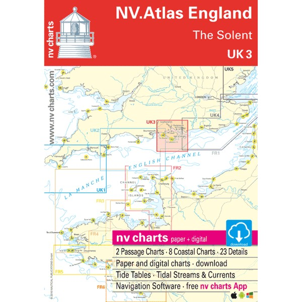 NV Charts UK 3 - NV. Atlas England - The Solent