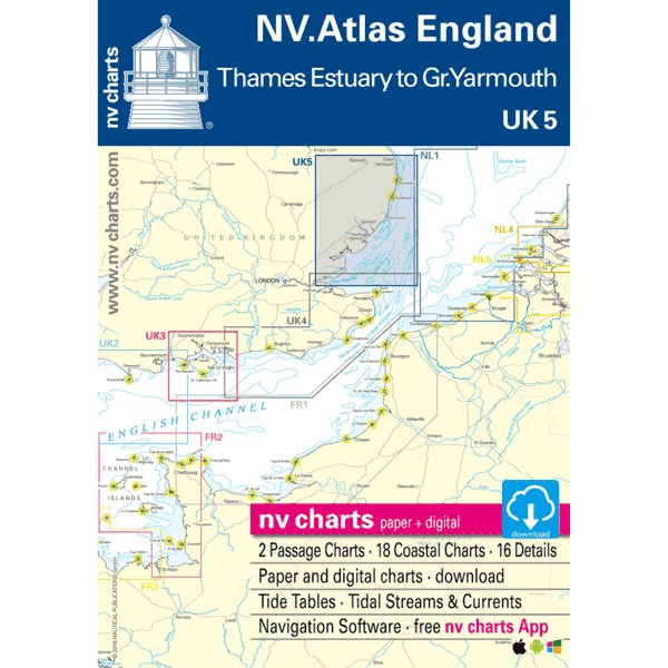 NV Charts UK 5 - NV. Atlas England - R. Thames to Great Yarmouth