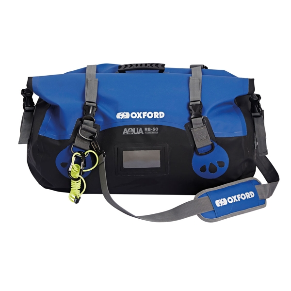 Oxford Aqua RB50 Roll Bag Black/Blue