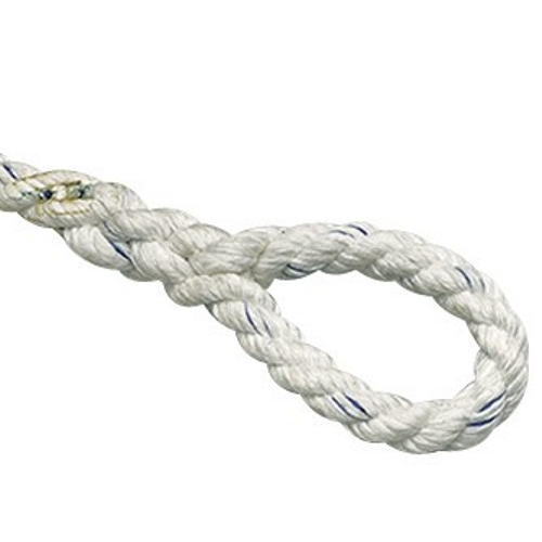 Plastimo 3-Strand Polyester Mooring Line 14mm x 42M With Loop & Thimble