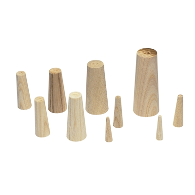 Wooden Plugs Set of 10