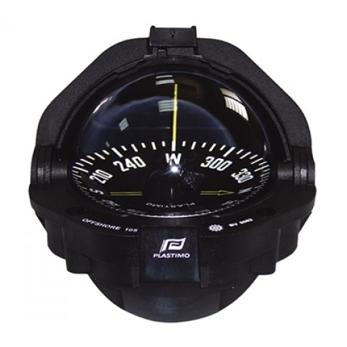 Plastimo Offshore 105 Compass Black with Black Flat Card