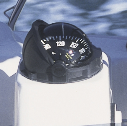 Plastimo Olympic 135 Compass Black - Black Card No Binnacle