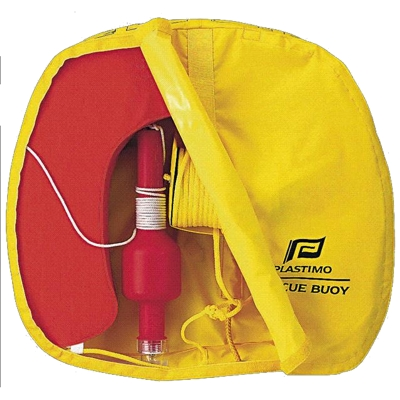 Plastimo Rescue Buoy - Yellow Cover - Orange Buoy + SOLAS Light