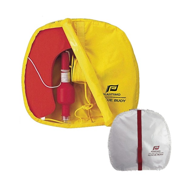 Plastimo Rescue Buoy - White Cover - Orange Buoy + SOLAS Light
