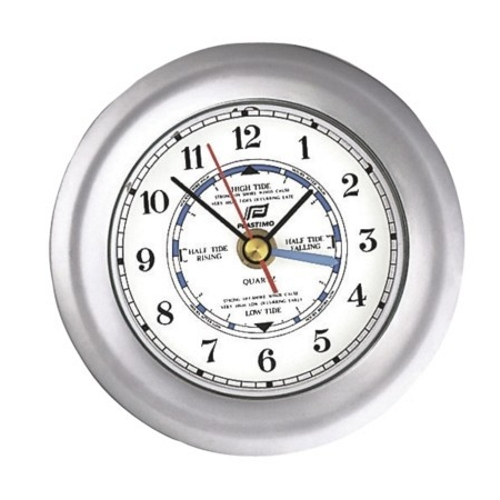 Plastimo 4 inch Matt Chrome 4 Hand Tide Clock