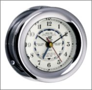 Plastimo 4 inch Polished Chrome 4 Hand Tide Clock