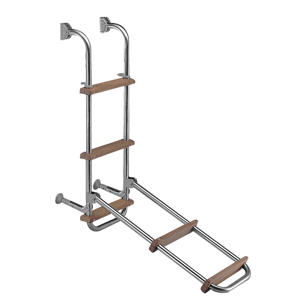 FOLDING ST.S LADDER 5 STEPS WOOD 120