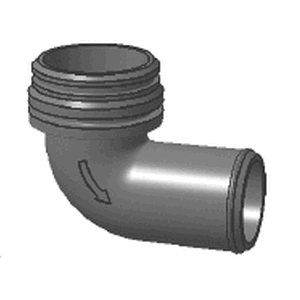 ANGLED NOZZLE + GASKET FOR PO