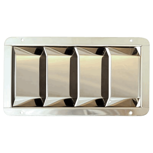 RECTANGULAR LOUVER U ST/STEEL 316
