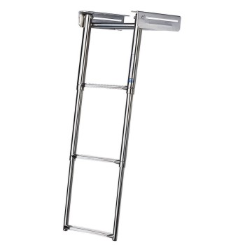 Telescopic boarding ladder S/S - Fold-away 3 Steps