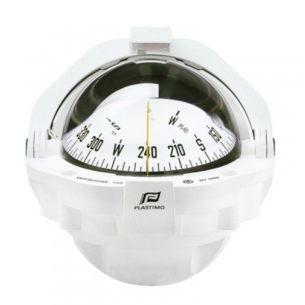 Plastimo Offshore 105 Compass White with White Conical Card