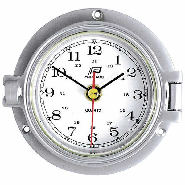 Plastimo Clock 3inch With Silent Zone Matt Chrome