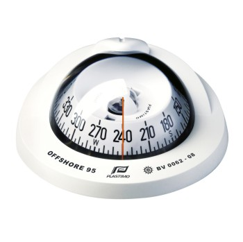 Plastimo Offshore 95 Compass White with Conical Card. Flush Mount