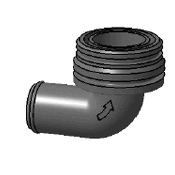 ELBOW INLET MALE D28MM/BILGE PUMP