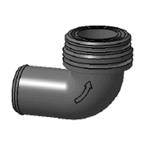 ELBOW INLET MALE D38MM/BILGE PUMP