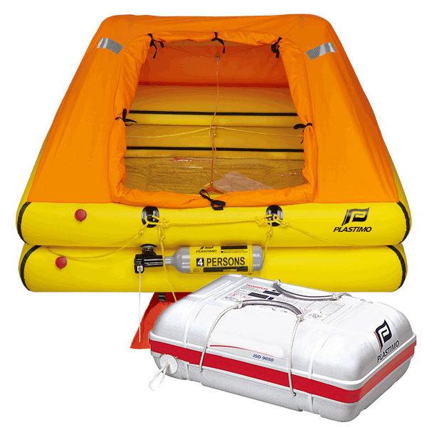 Plastimo 4 Man Standard Cruiser Liferaft with Canister