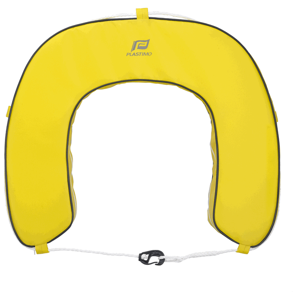 Plastimo Horseshoe Buoy With Removable Cover - Yellow