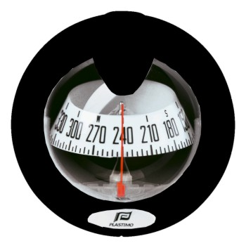 Plastimo Offshore 75 Compass Black - Grey Card. Flush Mount Vertical