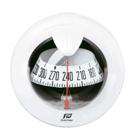 Plastimo Offshore 75 Compass White - White Card. Flush Mount Vertical
