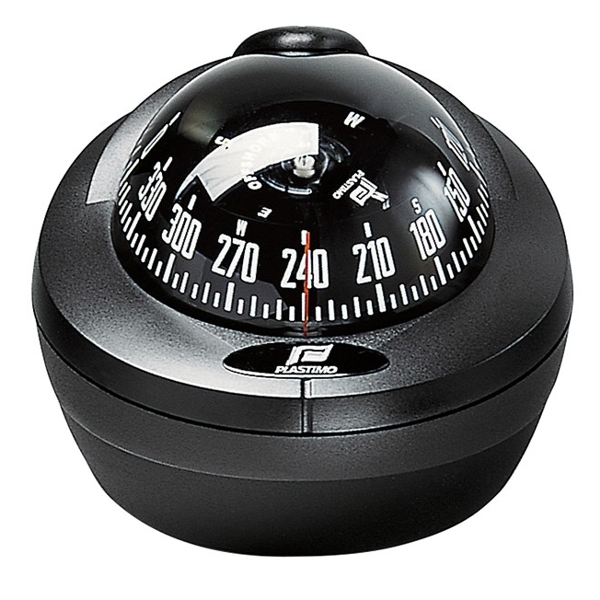 Plastimo Offshore 75 Compass Black - Black Card. Mini-Binnacle