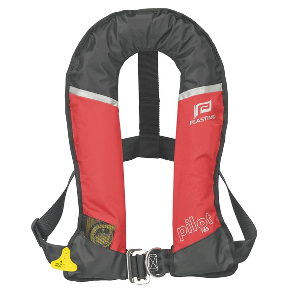 Plastimo Pilot 165 Lifejacket Red Automatic with Crutch Strap & Harness