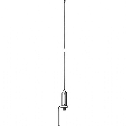 Procom 1.08m Whip Marine VHF Antenna with Low Weight Masthead Mounting