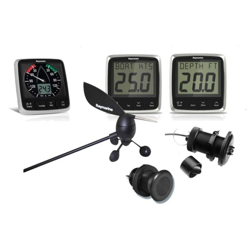 RAYMARINE i50 & i60 Wind / Speed / Depth - 3 x Instrument  c/w Txd Packs
