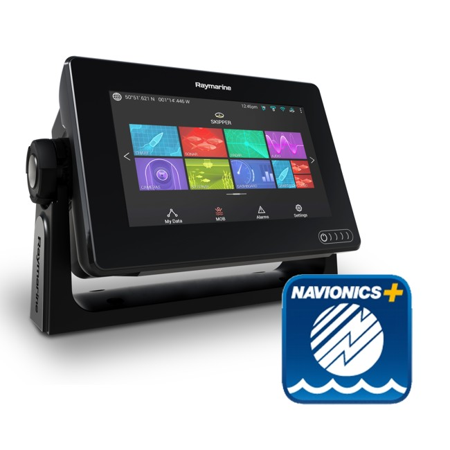 Raymarine Axiom 7 - 7 Inch Multi Function Display With Navionics Plus Small Download Chart