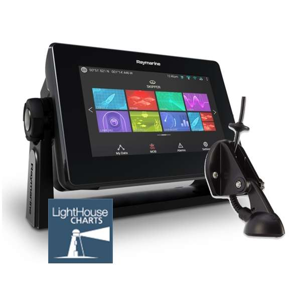 Raymarine Axiom 7 DV - 7 Inch Display With DownVision Sounder With CPT-S Chirp TR And LightHouse Download Chart