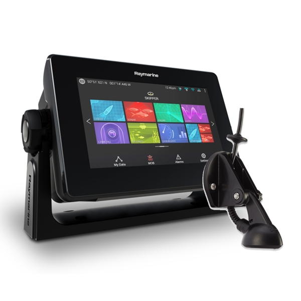 Raymarine Axiom 7 DV - 7 Inch Multi Function Display With DownVision 600W Sounder With CPT-S Chirp TR