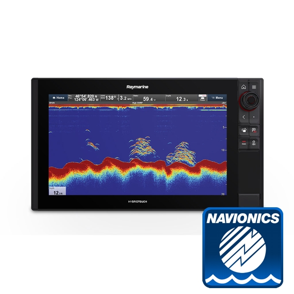 Raymarine Axiom 16 Pro-S HybridTouch 16 Inch MFD with intergrated High CHIRP Conical Sonar for CPT-S cw Nav+ Small DL